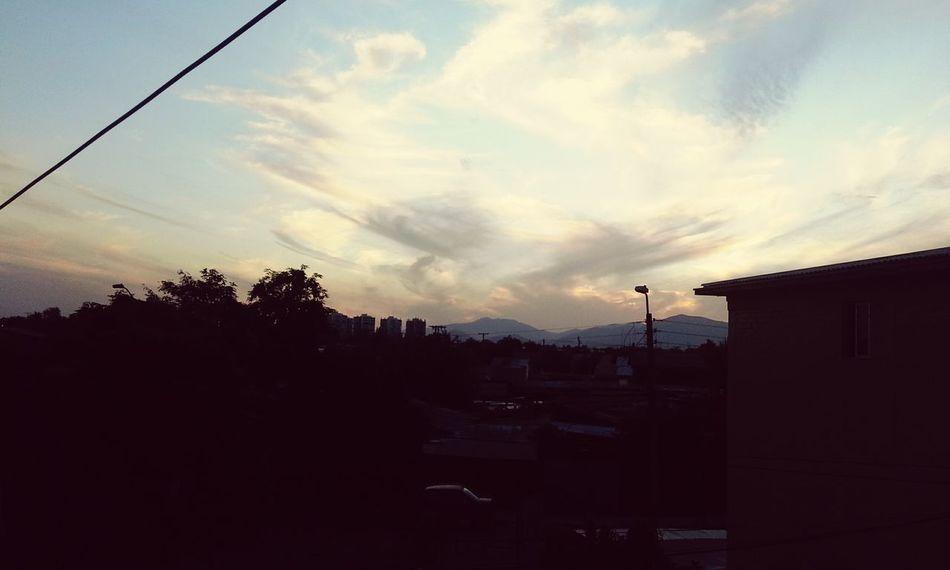 Belleza ♡ Atardecer Nubes Cielo Cielo Y Nubes  Nature Chile Santiago De Chile Loprado
