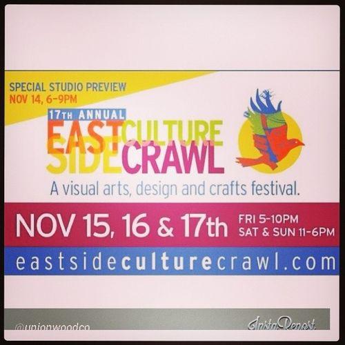 Enjoy local art and craft Eastsideculturecrawl EastSide Eastvan 1000parker art studio gallery