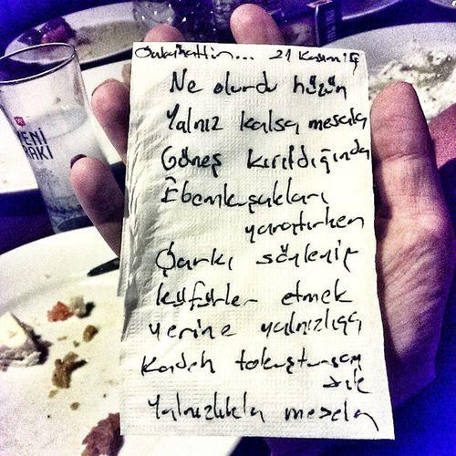Gece Sabo vasıtasıyla şiirini yazdı...