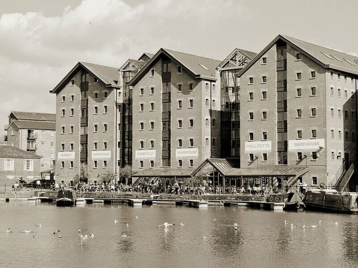 Hanging Out Check This Out Taking Photos Seagullspotting Summer2015 Old Buildings Gloucester Gloucester Docks Waterfront Waterreflections  Beautifuloldbuilding