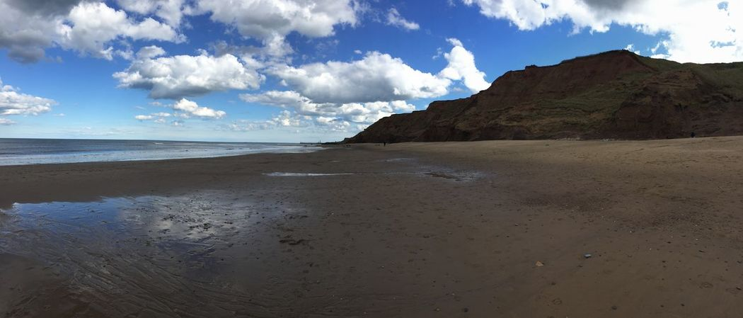 Cliffs England, UK Panorama Whitby North Yorkshire Yorkshire Beach Sea And Sky First Eyeem Photo