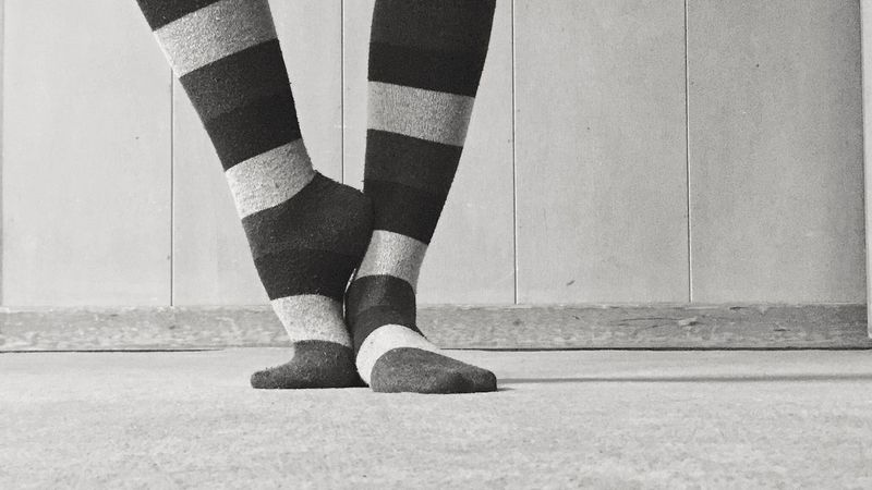 Conservative Happy Socks or The Wicked Witch from the Grey Happysocks Blancoynegro Blackandwhite Photography Feet Socks