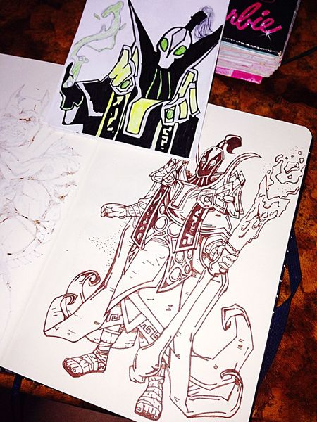Tava vendo a evolução dos meus desenhos. 2014 vs 2015 👍 Desenho Draw Drawing Art Brazilian Hello World Relaxing Dota2 Dota 2 Braziliangirl