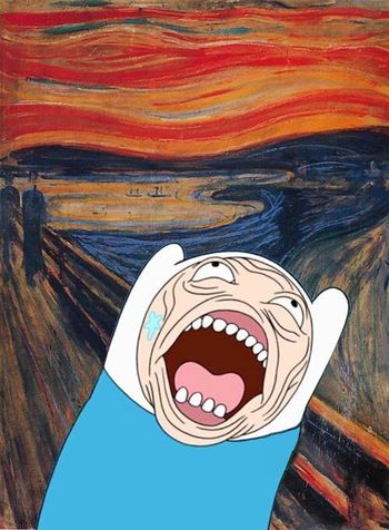 Scream Finn Art Adventure Time Loveit Funny LOL Followme Likeforlike Likeback