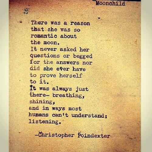 Moonchild Chrispoindexter Poetry Idontseeifeel