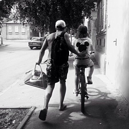 Bicycle Togetherness Full Length Riding Cycling Day Two People Outdoors Leisure Activity Road City Tree People Iloveit Together Good Times Love To Take Photos ❤ Together Forever Forever Goodday Lovelovelove вместенавсегда Iloveyou Love Lovely