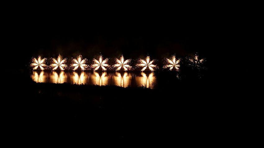 Celebration Night Illuminated No People Fireworks Water Reflections Manresa Parc De L'Agulla