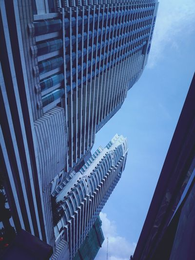Urban city centre Kuala Lumpur Central Architecture Modern Skyscraper Building Exterior Built Structure City Low Angle View Outdoors No People Day Sky Cityscape