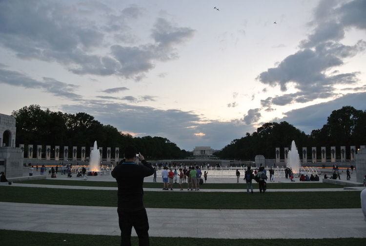 Tourists Washington Monument Lincoln Memorial Washington, D. C. Taking Pictures Sunset_collection Silhouette_collection