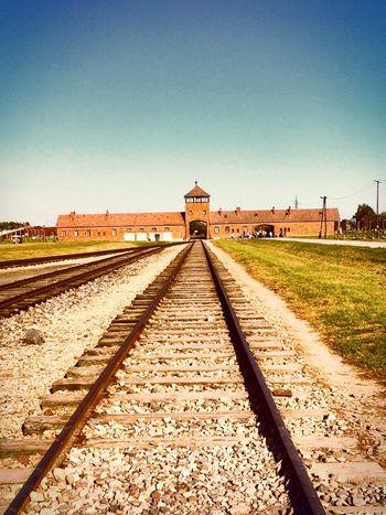 Birkenau Concentration Camp, Poland. Railroad Track Sky Transportation Europetrip2016 History Poland Oświęcim Birkenau Memorial World War 2 Lessonfromthepast Throwbackwednesday