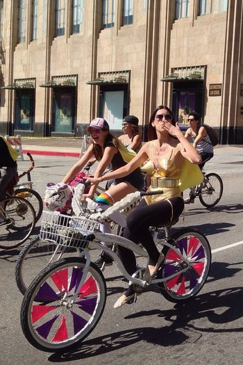 Kisses Bicycle Ride CicLAVia Enjoying Life