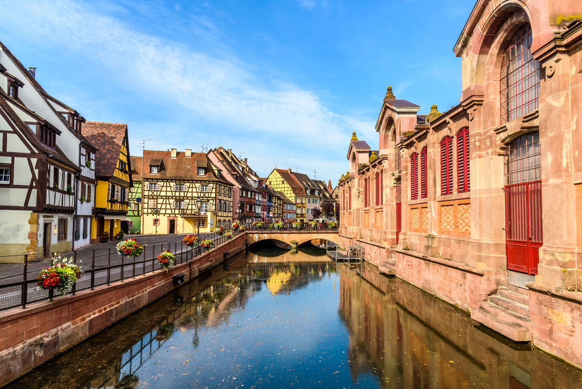 Alsace Arch Architecture Building Exterior Built Structure Canal City Day No People Outdoors Reflection Sky Water Waterfront