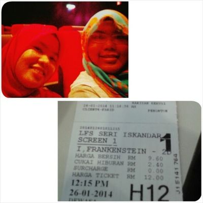 """Alhamdulillah ! Such a great day ^^ Finally dpt hang out with @nadiahsofian """"I Frankenstein"""" is awesome :) Friend Ansara MrsmTaiping MrsmLenggong MuslimahRockers UitmPerak UTP"""
