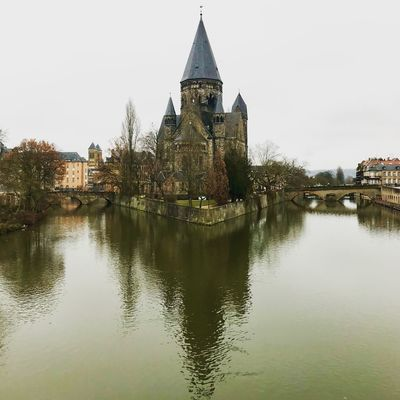Lovely Metz Winter France Metz Water Lake Waterfront History Travel Destinations Outdoors Sky Nature Day An Eye For Travel