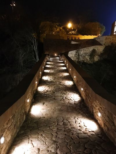 Caldes De Montbui,province Of Barcelona Night Nightview Romantic Walkway Caldea