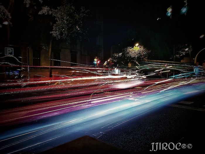 Night Light Trail Long Exposure Speed Illuminated Street Blurred Motion Motion Outdoors Car City No People Travel Destinations Cityscape Fotografo Tranquility FotoDelDia Foto Fotografia Agriculture Fotography Larga Exposicion Largaexposicion HuaweiP9 Huawei Photography