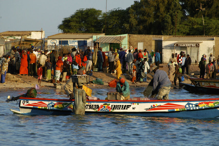 Palmarin Senegal Palmarin West Africa Africa Boat Built Structure Day Mode Of Transport Nautical Vessel Outdoors Real People Senegal Transportation