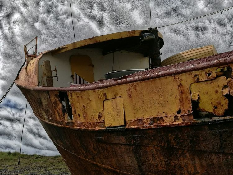 Abandoned Run-down Rusty Nautical Vessel Old Weathered Outdoors Lancashire UK Check This Out Rusty Ship Wreck