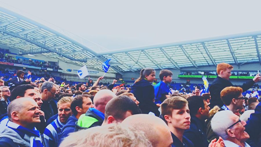 Stadium Brighton Bhafc  Pitch Invasion Premierleague Promotion Crowd Football