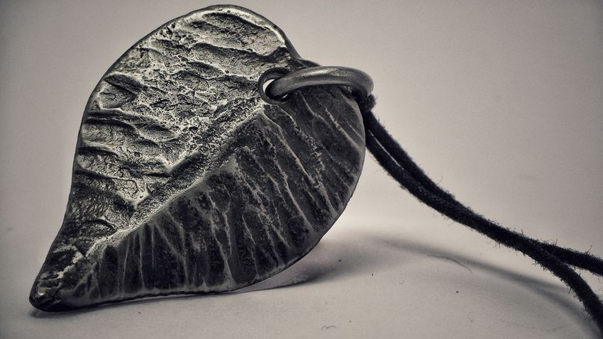Iron Leaf Metal Necklace No People Indoors  Close-up Day Studio Shot Indoors