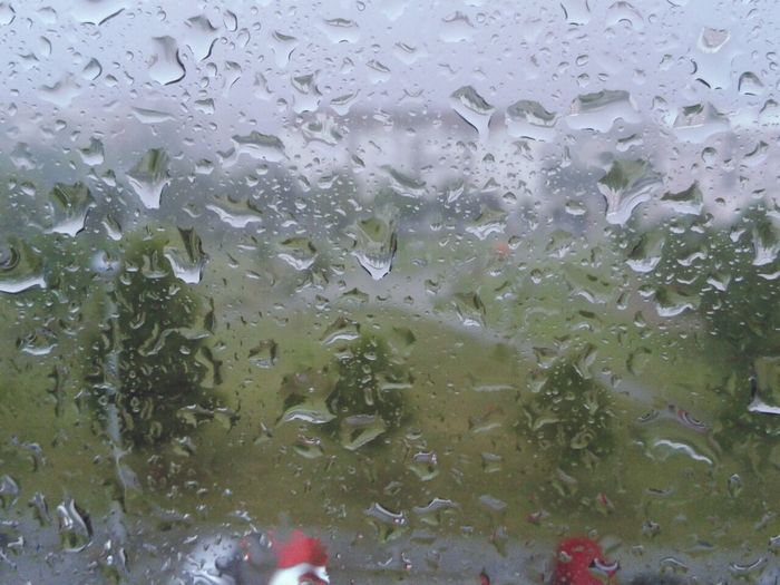 Rain Drops As The Rain Falls Summer Rain Rain On The Window