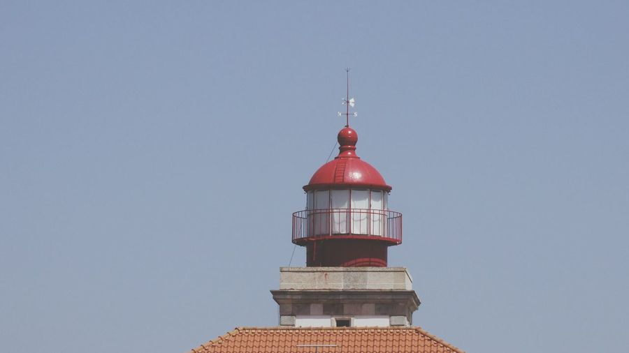 EyeEm Selects Red Tower Lighthouse Outdoors No People Building Exterior Sky Architecture Blue Day Roof Innovation The Week On EyeEm Lighthouse _Collection Light House And Blue Sky Tranquility Scenics