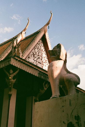 Film Photography Cambodia Architecture Sky Built Structure Day Roof Building Exterior Low Angle View