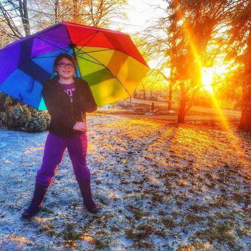 Urban Spring Fever EyeEm Best Shots ShotoniPhone6s Creative Shots Rainbow Umbrella Canada