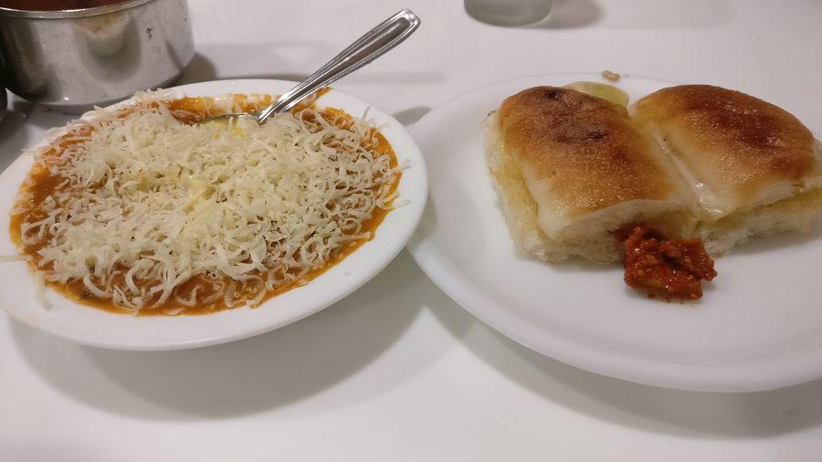 Pav favourite Indian food.... NewToEyeEm Pavbhaji Pavbhajilover Indianfoods EyeEm Selects Plate Close-up Food And Drink