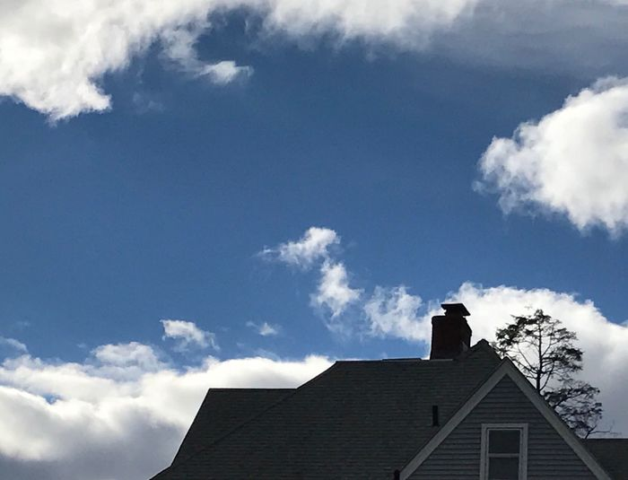 Architecture Building Exterior Cloud - Sky Sky Built Structure Low Angle View No People Day House Outdoors Nature view from DeAngelos funeral home in Middletown CT USA My Best Friends Mom Millie's Funeral Today She's Now At Peace💕 If There's A Heaven, She'll Be There The Week On EyeEm
