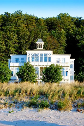 Haus am Meer. Architecture Villa Agnes Binz Auf Rügen Bäderarchitektur Building Exterior Tree No People History Clear Sky Old Buildings Landscape Landscape_Collection Beauty In Nature Beautiful Beach Sand Baltic Sea Waiting For Summer Day Quiet Places Quiet Moments Binz Architecture_collection Façade Beach House