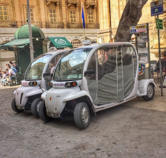 Mode of transport in Malta Architecture Building Exterior Built Structure Car City Day Land Vehicle Mode Of Transport No People Outdoors Stationary Street Transportation