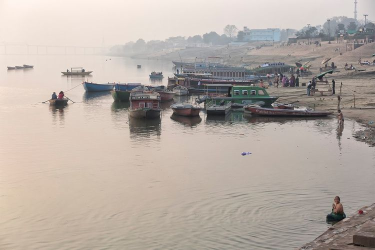 The Ganges river in Varanasi Uttar Pradesh. January 20, 2017. Real People People Lifestyles People Photography EyeEm Best Shots - People + Portrait Travel Photography Indian Cultures Incredible India River Documentary Ganges River Travel India Storytelling Check This Out Waterfront Nautical Vessel