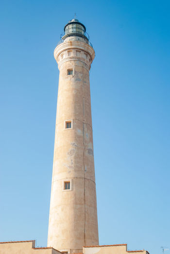 lighthouse at iSan Vito Lo Capo town in Sicily,Italy Lighthouse San Vito Lo Capo Sicilia Sicily ❤️❤️❤️ Architecture Blue Building Building Exterior Built Structure Clear Sky Copy Space Day Lighthouse Lighthouse_captures Lighthouse_lovers Lighthousephotography Low Angle View Nature No People Outdoors San Vito Sanvitolocapo Sky Tall - High Tower