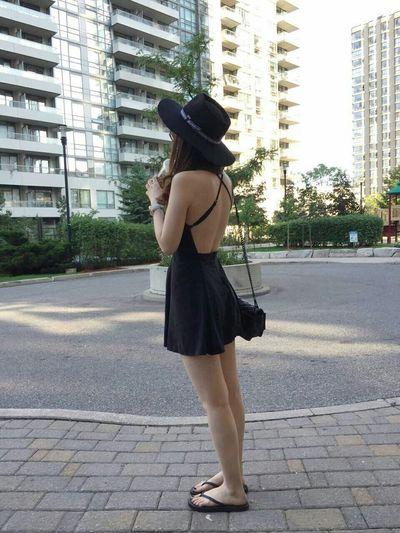 hat Lavishandsqualor dress Brandymelville bag Rebecca Minkoff