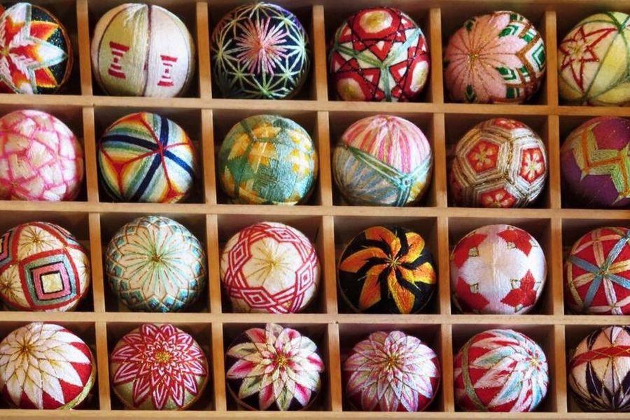 Multi Colored Cultures No People Indoors  Day Girls Day Spring Tradition Variation Japan Fukuoka Yanagawa Hinamatsuri Embroidery Handmade ひなまつり Temari