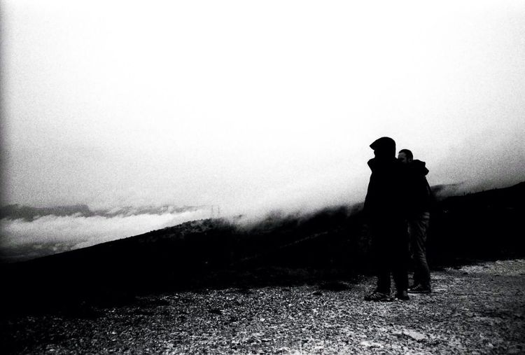 Gazing Landscape Black And White Film