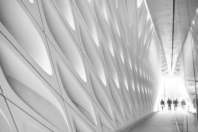 The Broad Museum Adult Architecture Art Built Structure Day Design Illuminated Indoors  Lifestyles Men People Real People The Broad The Way Forward Transportation Walking Women The Architect - 2018 EyeEm Awards