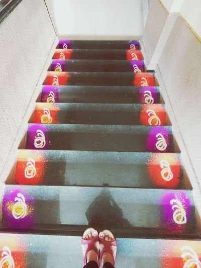Creativepath Handart RangoliArt Colour Of Life Stairs Happymoments AwesomeDay EyeEmNewHere