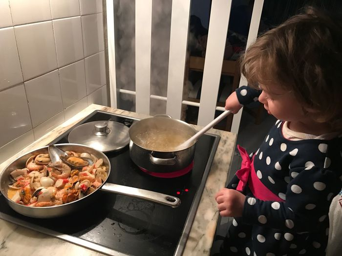 Children Only Child Domestic Kitchen Indoors  Kitchen Wooden Spoon Preparing Food Lifestyles Childhood Domestic Room One Person Real People People Freshness Kitchen Utensil Food Day