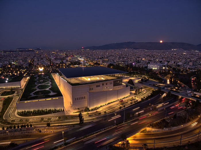 Nightflight over Snfcc Night Illuminated Architecture City Built Structure Building Exterior High Angle View City Life Cityscape Transportation Light Trail Travel Destinations Sky Outdoors Lit Residential District Tourism Capital Cities  Tail Light Aerial View