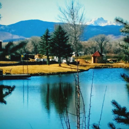 Countryside lakeside Outdoor Photography EyeEm Best Shots - Nature Mountain View By The Lake dock Country House Reflections In The Water . colorado life Enjoying Life Colorado Times Beautiful Day Small Town Life Sunny Day Peaceful rural wintertime EyeEm