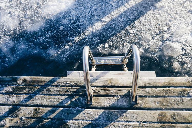 Ladder in water