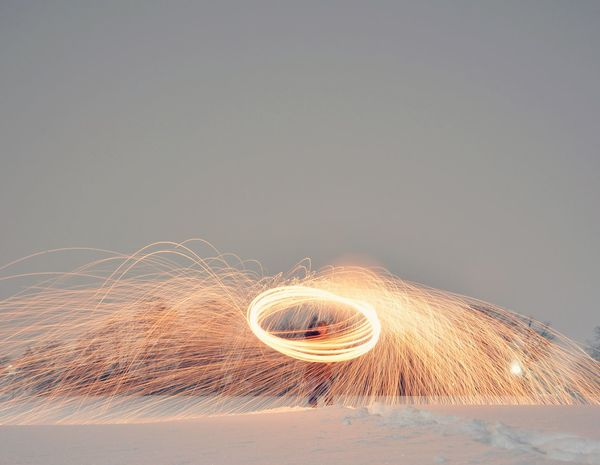 Fire snow Motion Illuminated Gray Background No People Concentric Close-up Sky Outdoors Day Long Exposure Slow Shutter Steelwoolphotography Steel Wool Steel Wool Photography Sparks Sparks Fly Long Exposure Shot Low Angle View Wide Shot Snow Winter