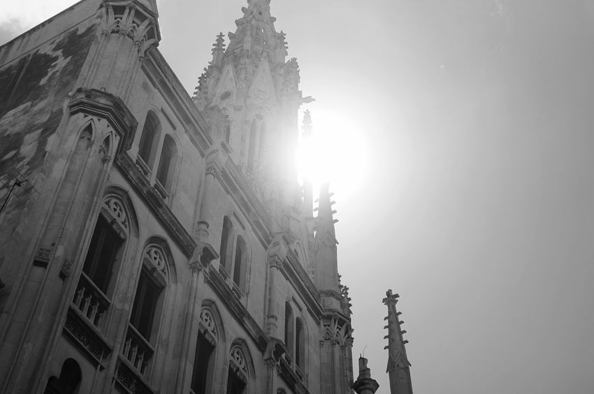 Religion Place Of Worship Spirituality Architecture Low Angle View Built Structure Building Exterior Statue Street Photography Havana Cuba Havanna, Cuba Low Angle View Sunlight Clear Sky Place Of Worship Architecture No People Day Outdoors Travel Destinations History Sunlight Sky Clear Sky