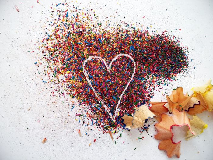 Heart Heart Shape Love Colors LOVENOTES