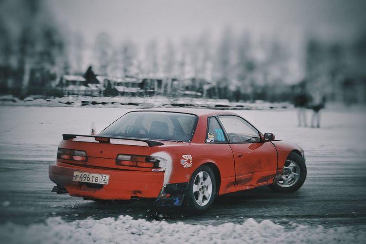 Red Winter Snow Car Cold Temperature Snowing Ice Snowdrift Drift Icematsuri Jdm Nissan Silvia
