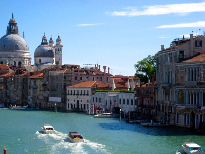 Old Buildings Along Canal In Venice