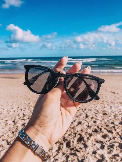 Praia do Flamengo, Brasil. Beach Land Sand One Person Sea Sky Sunglasses Nature Fashion First Eyeem Photo My Best Photo
