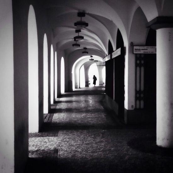 Pasadizos. Street Prague Simplicity Blackandwhite